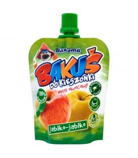 Bakoma Bakuś do kieszonki Mus owocowy jabłko-jabłko 90 g