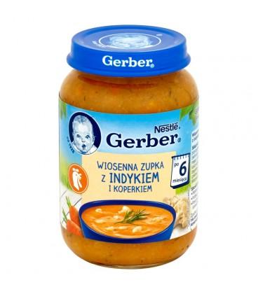 Gerber Wiosenna zupka z indykiem i koperkiem po 6 miesiącu 190 g