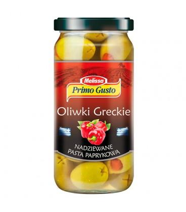 Primo Gusto Melissa Oliwki greckie nadziewane pastą paprykową 240 g