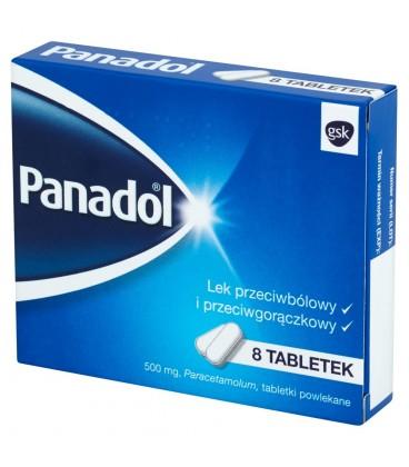 Panadol 500 mg Lek przeciwbólowy i przeciwgorączkowy 8 tabletek
