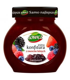 Łowicz Konfitura extra z owoców leśnych niskosłodzona 240 g