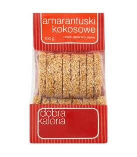 Dobra Kaloria Amarantuski kokosowe talarki amarantusowe 100 g