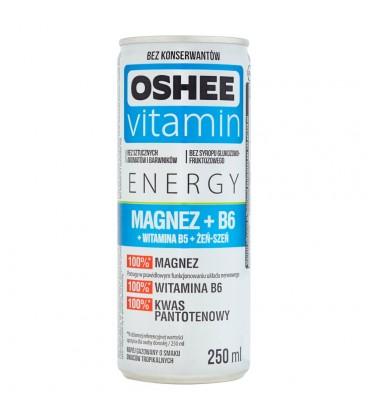 Oshee Vitamin Energy Magnez + B6 Napój gazowany o smaku owoców tropikalnych 250 ml