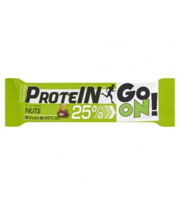 Sante Go On! Baton wysokobiałkowy orzechowy z inuliną w czekoladzie mlecznej 50 g