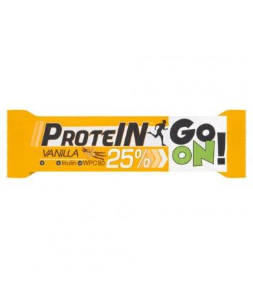 Sante Go On! Baton wysokobiałkowy waniliowy z inuliną w czekoladzie mlecznej 50 g