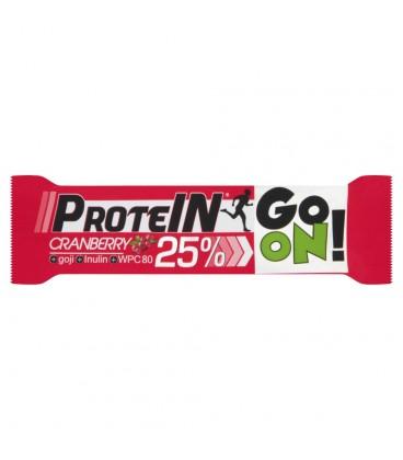 Sante Go On! Baton wysokobiałkowy z żurawiną jagodami Goji i inuliną w czekoladzie mlecznej 50 g