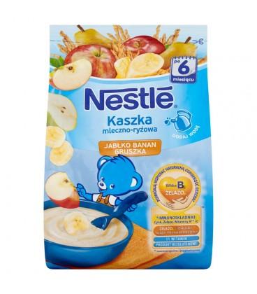 Nestlé Kaszka mleczno-ryżowa jabłko banan gruszka po 6 miesiącu 230 g