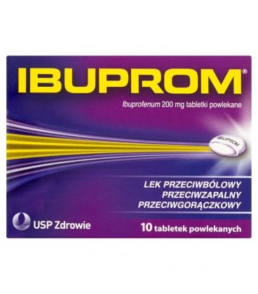 Ibuprom 200 mg Tabletki powlekane 10 tabletek