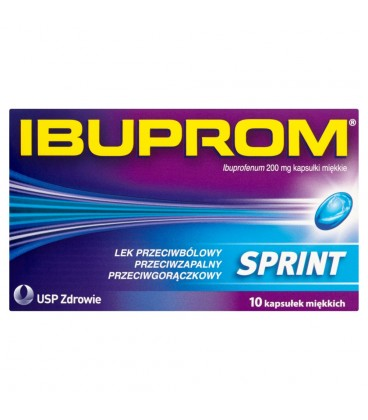 Ibuprom Sprint 200 mg Kapsułki miękkie 10 kapsułek