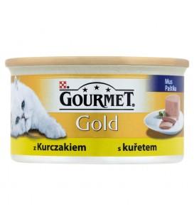 Gourmet Gold Mus z kurczakiem Pełnoporcjowa karma dla dorosłych kotów 85 g
