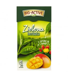 HERBATA ZIELONA EX. OPUNCJA+MANGO BIG-ACTIVE ( 1,7 g x 20 torebek)