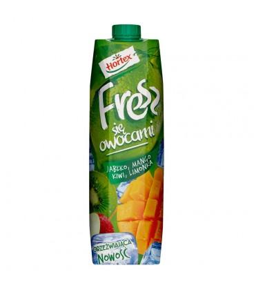 Hortex Fresz się owocami Jabłko mango kiwi limonka Napój wieloowocowy 1 l