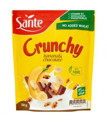 Sante Crunchy bananowe z czekoladą Chrupiące płatki 350 g