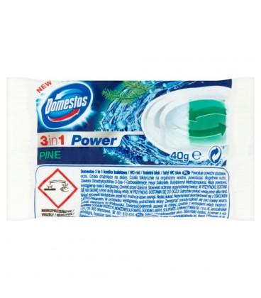 Domestos 3w1 Pine Kostka toaletowa Opakowanie uzupełniające 40 g