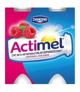 Danone Actimel Malina Mleko Fermentowane 400 g (4 sztuki)
