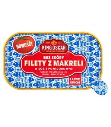 King Oscar Filety z makreli w sosie pomidorowym 110 g