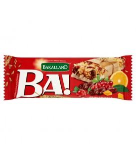 Bakalland Ba! żurawina & pomarańcza Baton zbożowy 40 g