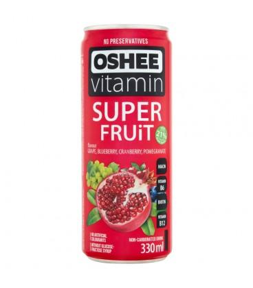 Oshee Vitamin Super Fruit Napój niegazowany o smaku wieloowocowym wzbogacony witaminami 330 ml