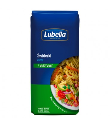 Lubella Eliche Makaron Świderki z warzywami 400 g