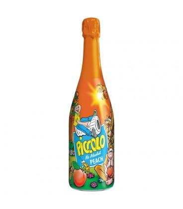 Piccolo Peach Napój bezalkoholowy gazowany o smaku brzoskwiniowym 750 ml