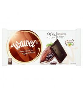 Wawel 90% Cocoa Czekolada gorzka extra 100 g