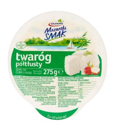 Mlekpol Mazurski Smak Twaróg półtłusty 275 g