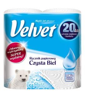 Velvet Czysta Biel Ręcznik papierowy 2 rolki