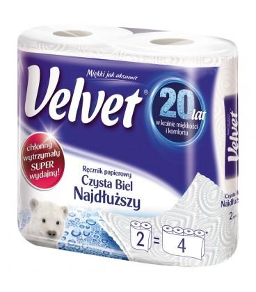 Velvet Czysta Biel Najdłuższy Ręcznik papierowy 2 rolki