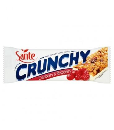 Sante Crunchy Baton zbożowy musli z owocami żurawiny i maliny 40 g