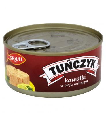 GRAAL Tuńczyk kawałki w oleju roślinnym 170 g
