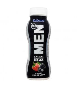 Bakoma Men Pro Jogurt owoce leśne z wysoką zawartością białka 230 g
