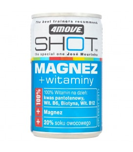 4Move Shot Magnez + witaminy Niegazowany napój o smaku jagodowym 150 ml