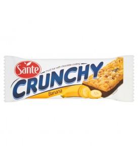 Sante Crunchy Baton zbożowy musli z dodatkiem bananów podlany czekoladą 40 g