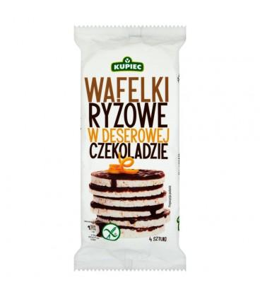 Kupiec Wafelki ryżowe w deserowej czekoladzie 60 g (4 sztuki)