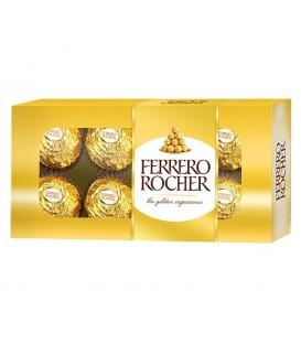 Ferrero Rocher Chrupiący smakołyk z kremowym nadzieniem i orzechem laskowym w czekoladzie 100 g