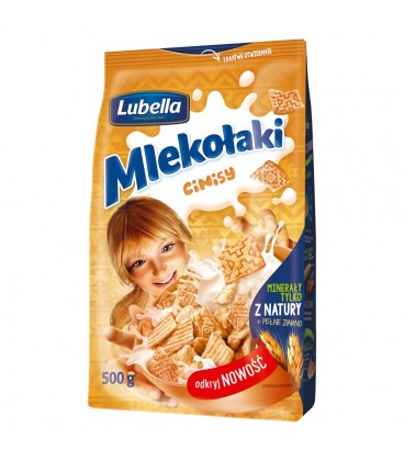 Lubella Mlekołaki Cinisy Zbożowe kwadraciki z cynamonem 500 g