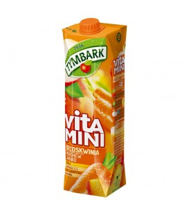 Tymbark Vitamini Brzoskwinia marchew jabłko sok 1 l