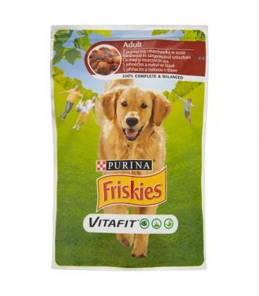 Friskies Vitafit Adult z jagnięciną i marchewką w sosie Pełnoporcjowa karma dla dorosłych psów 100 g