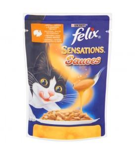 Felix Sensations Sauces z indykiem w sosie Pełnoporcjowa karma dla dorosłych kotów 100 g