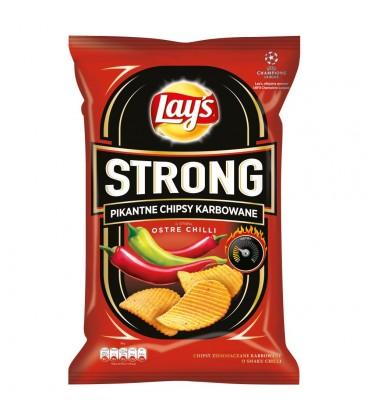 Lay's Strong Pikantne chipsy karbowane o smaku ostre chilli 140 g