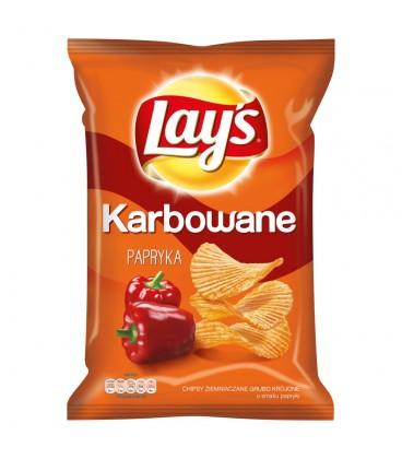 Lay's Karbowane Papryka Chipsy ziemniaczane 140 g