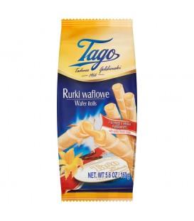 Tago Rurki waflowe z kremem o smaku waniliowym 160 g