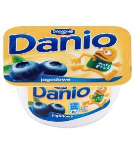 Danone Danio Serek homogenizowany jagodowy 140 g