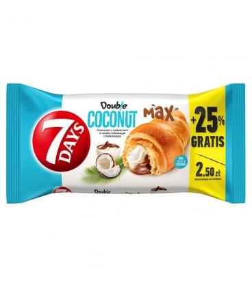 7 Days Doub!e Max Croissant z nadzieniem o smaku kakaowym i kokosowym 110 g