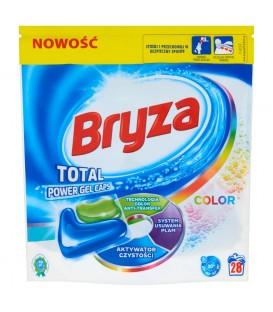 Bryza Color Total Power Gel Caps Kapsułki do prania kolorowych tkanin 608 g (28 sztuk)