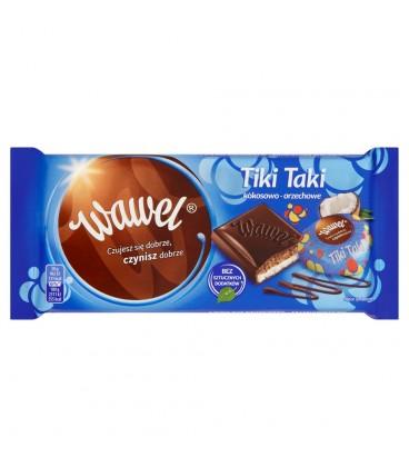 Wawel Tiki Taki kokosowo-orzechowe Czekolada nadziewana 100 g