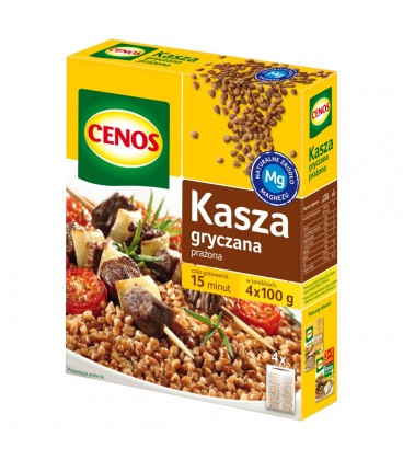 Cenos Kasza gryczana prażona 400 g (4 torebki)