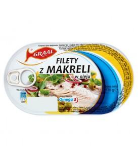 GRAAL Filety z makreli w oleju 170 g