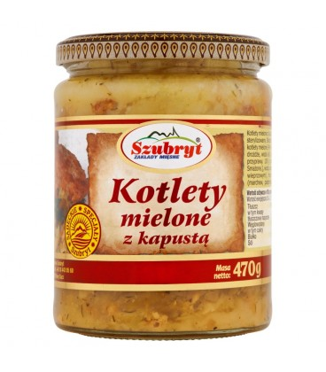 Szubryt Kotlety mielone z kapustą 470 g