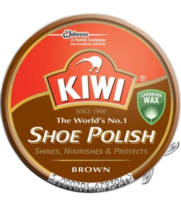 KIWI shoe polish pasta do butów w puszce brązowa 50ml